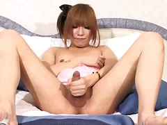 Porno XO:masturbation, ladyboy, tranny, asian, shemale, jerking