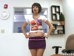 This naughty asian brunette teen came
