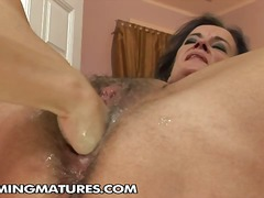 granny, pussy, clit, insertion, old, hairy, vagina, hotel, brunette, masturbation, fisting, cunt, cunnilingus, finger
