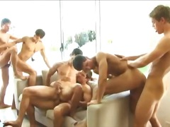 gangbang, group, fucking, condom, ass, rimjob, dp