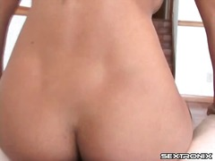 Close up pov cock riding with hot brunette