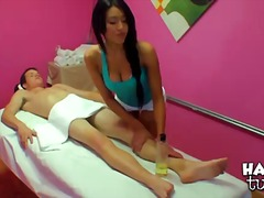 brunette, massage