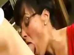 Lisa Ann, stockings, mom, italian, glasses, facial, housewife, milf, tits, trimmed, lingerie