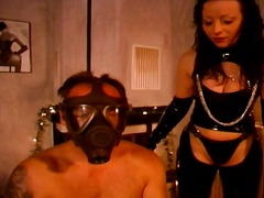 Masked hunk gets whipped and teased