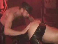 threesome, fetish, anal, latex, style, doggy