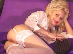 puke, baguhan, webcam, blonde