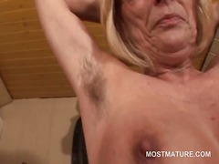 mature, blonde, mom, milf, older, masturbation, granny
