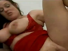 doggy, big, style, milf, tits, brunette, office, threesome