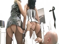 Milla yul and wild cat getting fingering and penetrated by omar