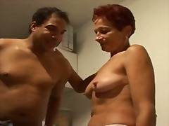 mature, hairy, redhead, german