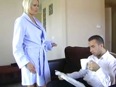 cheating, housewives, blonde, stockings, husband