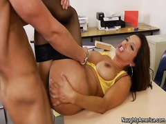 Francesca Le, uniform, hard, model, milf, pornstêr, kantoor