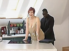 German shorthair-redhead bbw-granny fucked by black guy