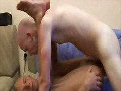 Bareback sex with ass creampie