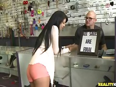 Sweet hot gals being offered everything they have in their shop for sexy dick.