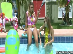 Nikki brooks came to her friend on a cool pool party. moreover, they are having fun fully naked and showing big boobies on camera. even their neighbors are shocked. watch and enjoy