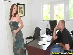 Scarlett wants to get this job and she put on her best bikini to seduce her new boss. however, she had no i...