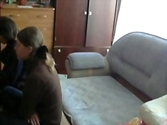 Two friends of mine sucking my strapon