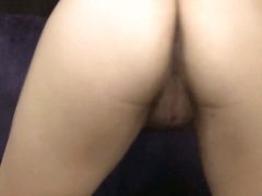 Big boobed slut shows me her booty