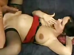 Pregnant woman sucks and gets fucked