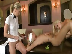 shaved, pussy, eating