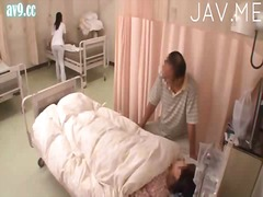 asiër, hand job, dokter, uniform, japanees