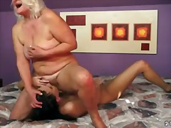 Lusty granny judi is having fun licking young lyen parker's juicy shaved pussy