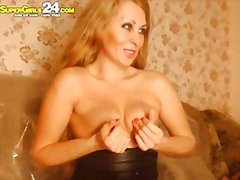 solo, webcam, blond, meisie