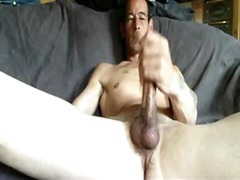 solo, masturbation, big, big cock, jerking, big boobs, cock, gay