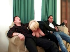 mature, threesome, drunk, handjob