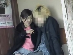 Japanese sex clip of a cute jap making out with her bf