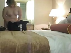 Real amateur woman with fatty body voyeured after shower