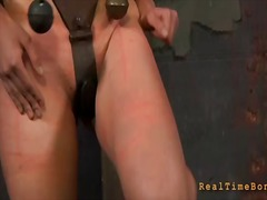 Brutal beating of babes bottom