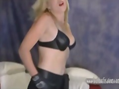 leer, maer, nylon, blond, babe, groot gat, fetish