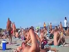 amazing, couple, more, beach, public, swingers