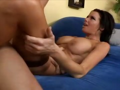 Hot slut sits her squrting cunt on one strong dick