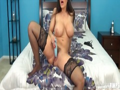 Lisa Ann, tits, masturbation, lisa ann, big, dildo, stockings