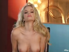 Liz finds herself horny enough and takes sex toy in her muff