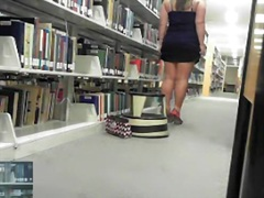 Mad hotty gets in nature's garb in public library