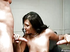 Ava ramon keeps her mouth wide open while getting jazzed on