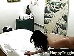 Asian masseuses hardcore action at work