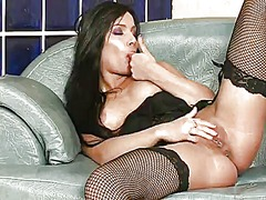 Angel pink with smooth cunt plays with her soaking wet vagina as she has fun alone on cam