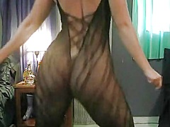 Shaking my big fanny and stripping