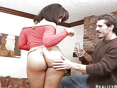 Anus fucking for randy dark haired around giant real knockers