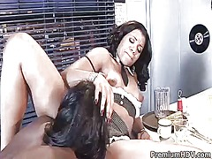 Sydnee capri fulfills her lesbian desires with angel banxxxs fingers in her in her pussy