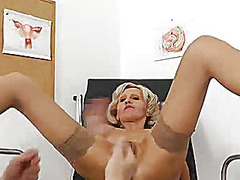 speculum, doctor, closeup, mom, internal, enema, check, blonde, milf, examination, pussy, mature, vagina