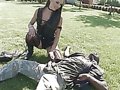 outdoors, straight, group, interracial